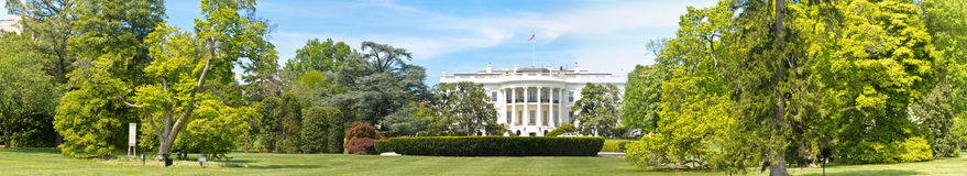 Panorama of The white house in washington DC Stock Photos