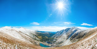 Panorama of white mountains Royalty Free Stock Images