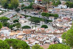 Panorama of white village of Mijas. Costa del Sol, Andalusia. Spain. Royalty Free Stock Photo