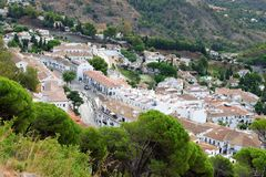 Panorama of white village of Mijas. Costa del Sol, Andalusia. Spain. Stock Image
