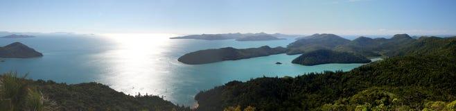Panorama of the Whitsunday Islands Royalty Free Stock Image