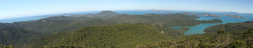 Panorama of the Whitsunday Islands Royalty Free Stock Images