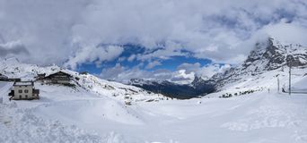 Panorama widok śnieg zakrywający kleine obrazy royalty free
