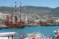 Panorama widok Alanya, Turcja Obrazy Royalty Free
