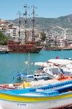 Panorama widok Alanya, Turcja Zdjęcia Royalty Free