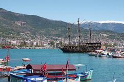Panorama widok Alanya, Turcja Zdjęcie Royalty Free