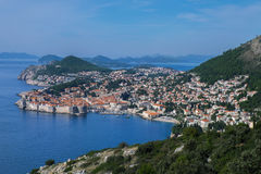 Panorama widok Dubrovnik obraz royalty free