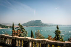 Panorama widok, Jeziorny Garda Obrazy Stock