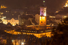 Panorama widok, Lviv obraz royalty free