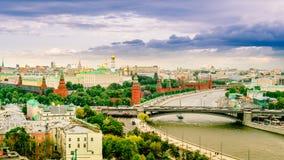 Panorama widok Moskwa z Kremlin, Rosja cityscape Zdjęcia Stock