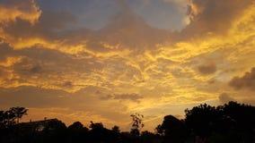 Panorama widok niebo zmierzch zdjęcie royalty free