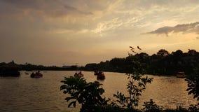 Panorama widok niebo zmierzch obraz royalty free