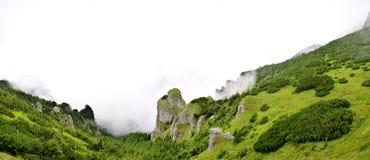 Panorama widok od ceahlau montains Obraz Royalty Free