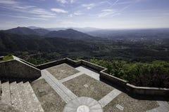 Panorama widok od Sacro Monte w Varese, północ Włochy fotografia stock