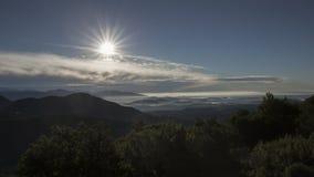 Panorama widok od Sacro Monte w Varese, północ Włochy zdjęcie royalty free