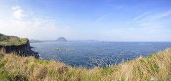 Panorama widok od Songaksan góry fotografia stock