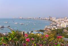 Panorama widok Pattaya miasto w Tajlandia Zdjęcia Stock