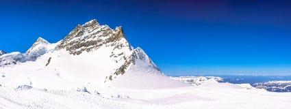 Panorama widok piękny Śnieżny Alps widok górski od Jungfrau Obraz Royalty Free