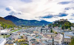 Panorama widok Salzburg obraz royalty free