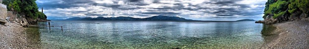 panorama widok sceniczny denny obrazy stock