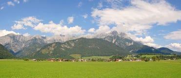 Panorama widok Steinerenes Meer Saalfelden Leogang Austria Fotografia Royalty Free