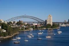 Panorama widok Sydney miasta schronienia widok od waverton punktu wi Obrazy Royalty Free