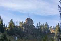 Panorama widok szwajcarscy alps od Schynige Platte obraz stock