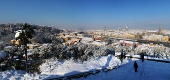 Panorama widok w zimie przy Florencja Fotografia Stock