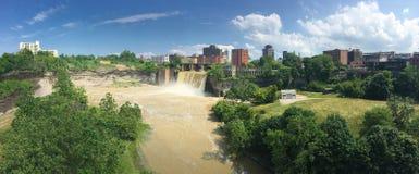 Panorama widok wysokość spadki i miasto Rochester Obraz Royalty Free
