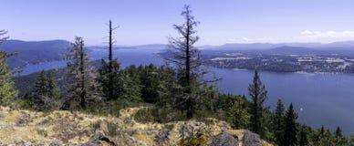 Panorama widoki podwyżka na Vancouver wyspie Zdjęcia Royalty Free