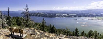 Panorama widoki podwyżka na Vancouver wyspie Obraz Stock