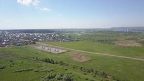 Panorama wieś od wzrosta zbiory wideo