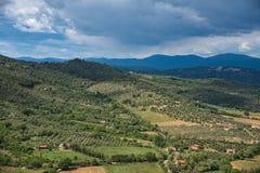 Panorama wieś Zdjęcie Stock
