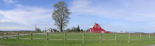 panorama wieśniaka stodole Obrazy Stock
