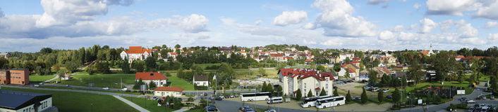 Panorama of Wieliczka Town in Poland Stock Photography