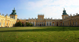 Panorama of Wilanow Palace Stock Photo