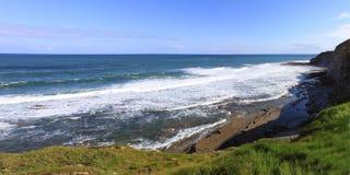 Panorama of a wild coast Stock Image