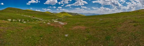 Georgia high in the mountains landscape panorama Royalty Free Stock Image