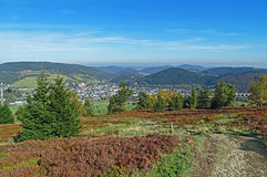 Panorama of Willingen in the Sauerland region (Germany) Stock Photography
