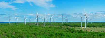 A panorama wind farm in Estonia Stock Photography