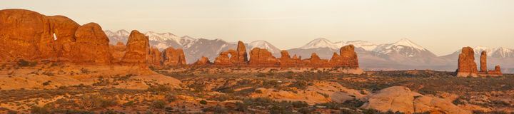 Panorama of the Windows section of Arches NP Royalty Free Stock Image