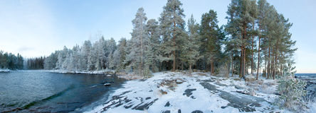 Panorama of winter landscape Stock Photo