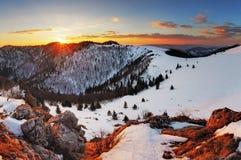 Panorama winter mountain landscape - Slovakia Stock Photos