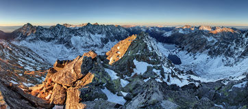Panorama of winter mountain - Tatras, Slovakia Stock Photography