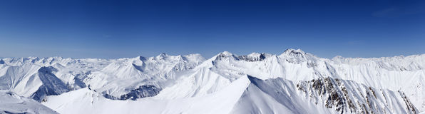 Panorama of winter mountains. Stock Photography