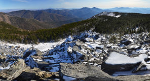 Panorama of winter mountains Royalty Free Stock Photography