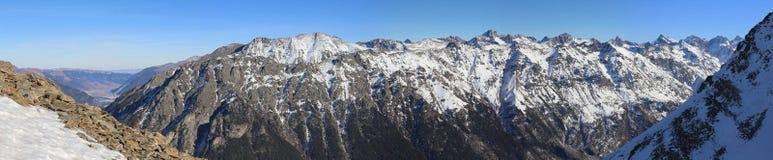 Panorama of winter mountains Royalty Free Stock Photos