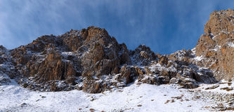 Panorama of Winter rocks Royalty Free Stock Images