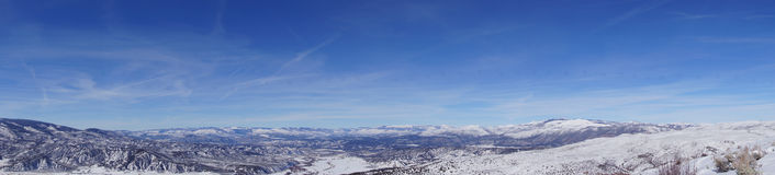 Panorama, Winter snow on mountains Stock Images
