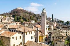 Panorama wioska Asolo Zdjęcie Stock